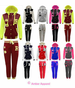 NEW-LADIES-BASEBALL-TRACKSUIT-JOGGING-BOTTOMS-WOMENS-HOODIE-SIZE-8-14
