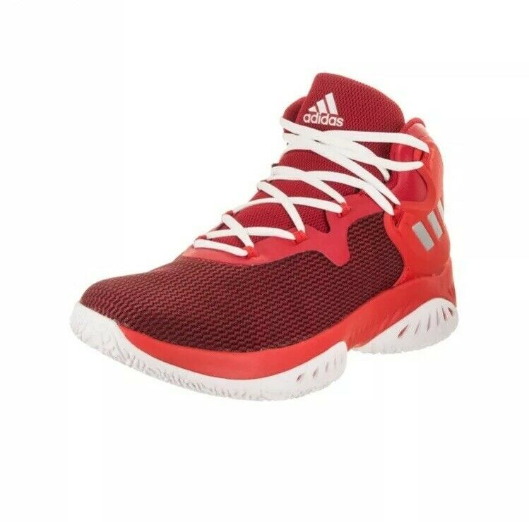 Adidas Men's Explosive Bounce Basketball shoes red sneakers Size 14.5