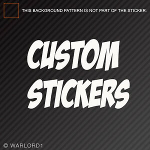 Custom Sticker Contact Us Before Ordering for Instructions
