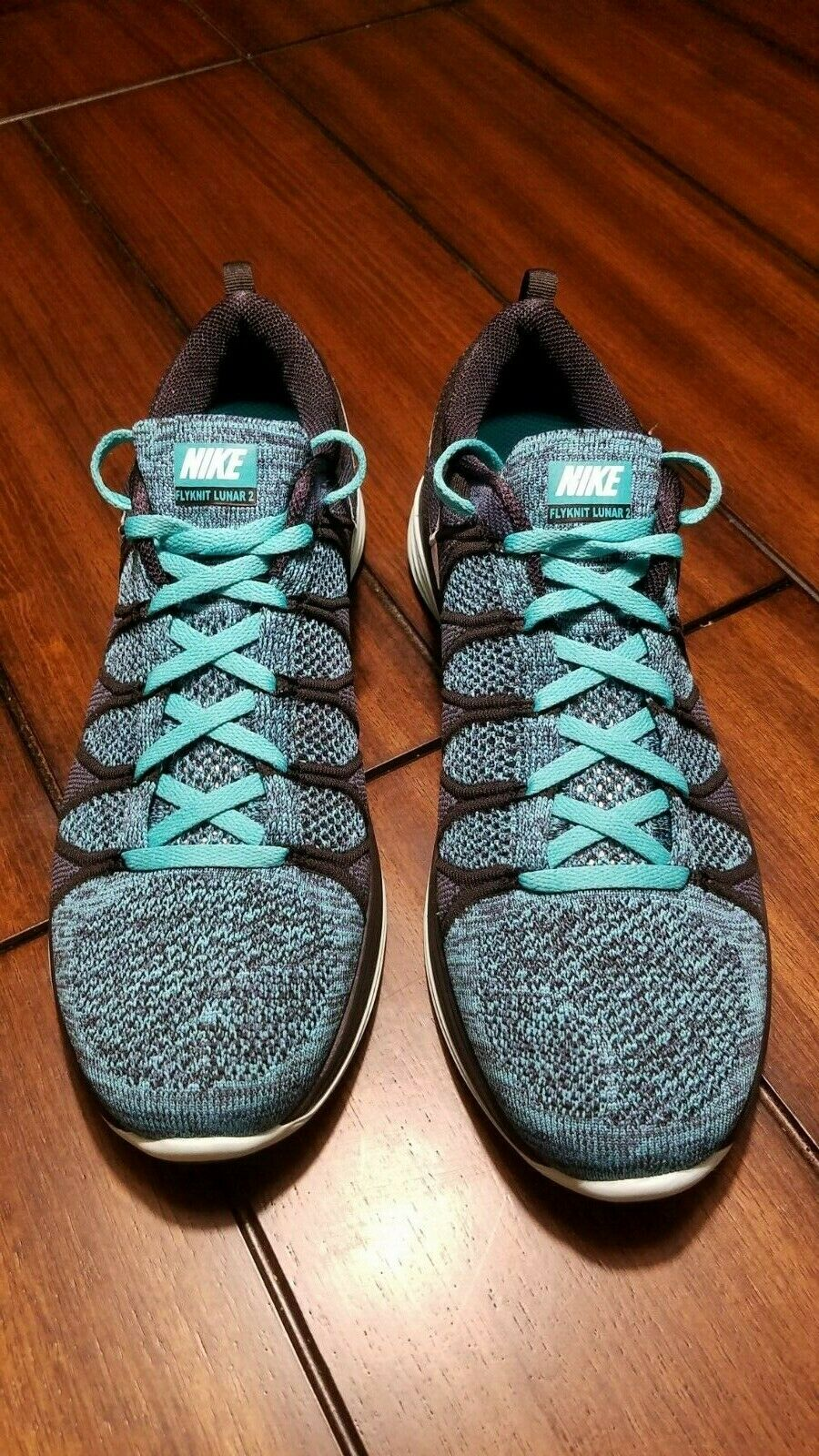 Nike Flyknit Lunar 2 Black Turquoise US 11 code 620465 004