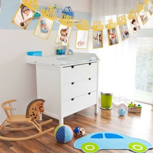 12 months photo banner Baby Shower 1st Birthday Party Decoration boy girl
