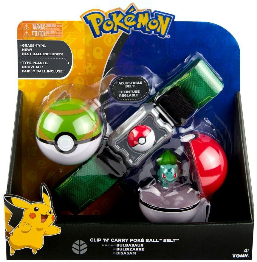 Pokemon Bulbasaur & Nest Ball Clip 'n' Carry Poke Ball Belt