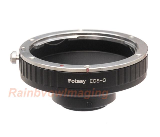 Canon EOS EF EFs lens to C Mount Film Movie Bolex Video Camera CCTV Adapter Ring