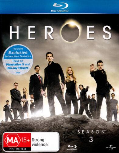 1 of 1 - Heroes: Season 3  - BLU-RAY - NEW Region B