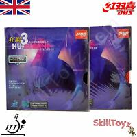 2 X Dhs Hurricane 3 Ittf Table Tennis Bat Rubbers - Uk Seller - Choose Hardness