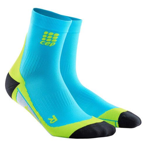 CEP Men/'s Dynamic Hawaiian Blue//Green Short Socks