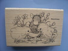 HOUSE MOUSE RUBBER STAMPS SHARING SEED NEW WOOD STAMP