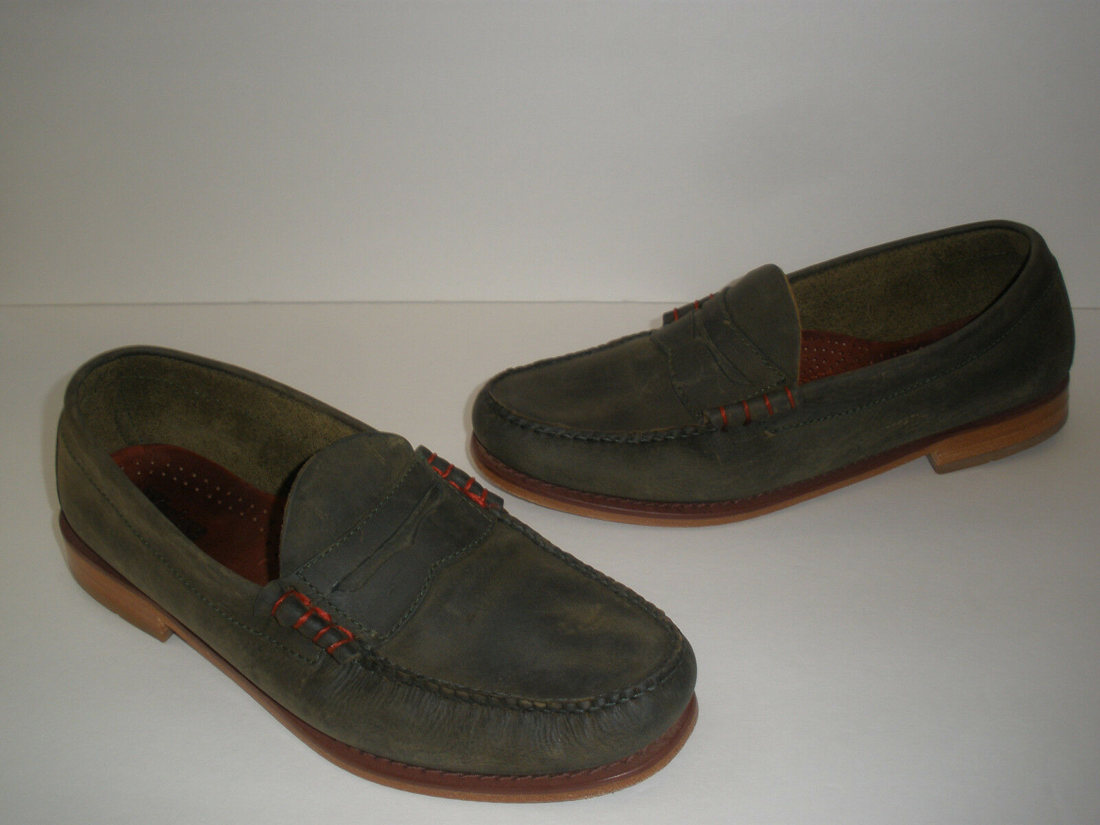 WEEJUNS G.H. BASS & CO. OILED LEATHER LOAFERS SIZE US 8.5 VERY NICE L@@K