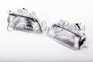 Honda-CRX-CIVIC-Headlights-SINGLE-BULB-EDM-ZC-EF-ef8-ef9-SIR-88-91-Set
