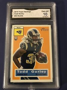 2015-Topps-Heritage-93-Todd-Gurley-Rookie-Card-GMA-10-Gem-Mint