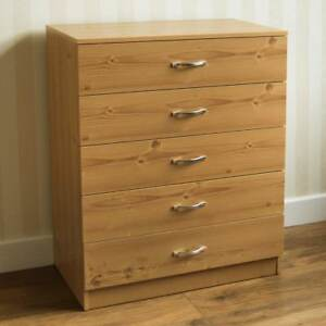 Riano-Chest-Of-Drawers-Pine-5-Drawer-Metal-Handles-Runners-Bedroom-Furniture