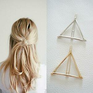 2pcs-Geometric-Hair-Clips-Women-Triangle-Barrettes-Hairpins-Jewelry-Gift