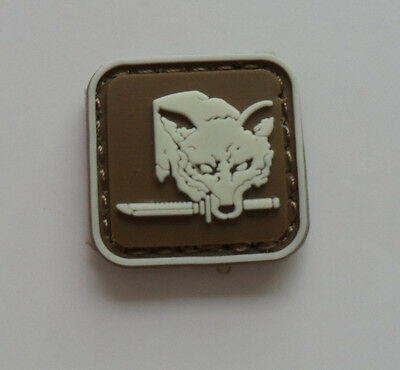 FOX HOUND SPECIAL FORCE GROUP PVC 3D Rubber .Metal Gear Solid Mini   Patch
