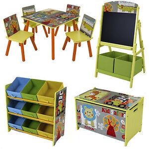 Astonishing Details About Safari Style Kids Childrens Table Chair Set Toy Box Storage Shelves Chalkboard Interior Design Ideas Inesswwsoteloinfo