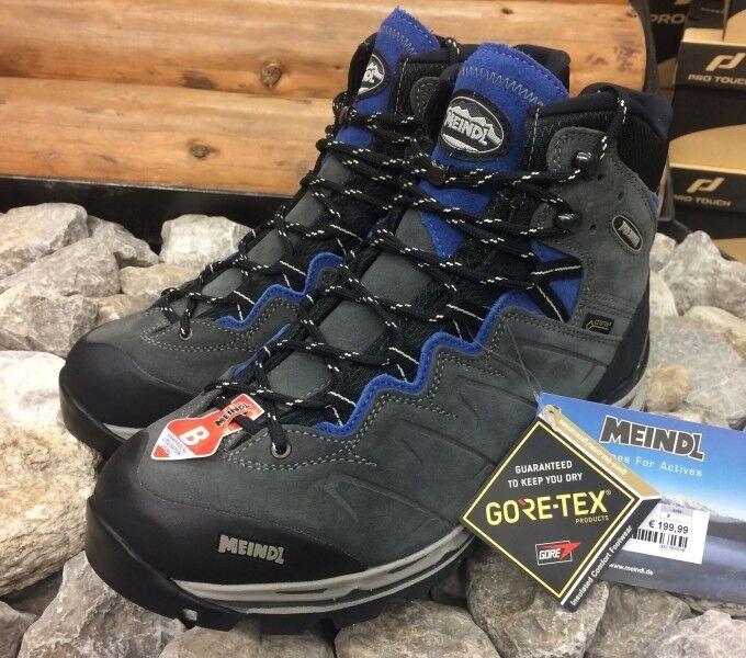 Meindl Herren Wanderstiefel Minnesota Pro GTX Trekkingstiefel Grau Blau Neu