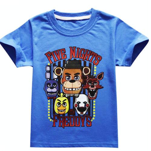 Kids Boys Five Nights at Freddy/'s FNAF Clothing Short Sleeve T Shirt 4-12Y Gifts