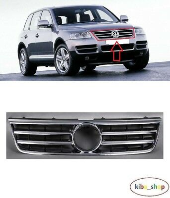 Mmhot for Touareg 2011 2012 2013 2014 Voitures Pare-Chocs Avant inf/érieur Grille Grill Admission dair Grill Chrome Garniture for VW