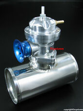 """Turbo TYPE-RS BOV Blow Off Valve Silver + 3"""" OD Polished Stainless Steel Pipe"""
