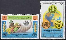 Qatar 1992 ** Mi.999/00 Früchte Fruits WHO FAO Food