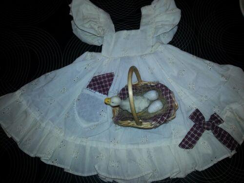 robe schuerze Puppenmode V marques Orchidée-poupées entenkorb 50 cm