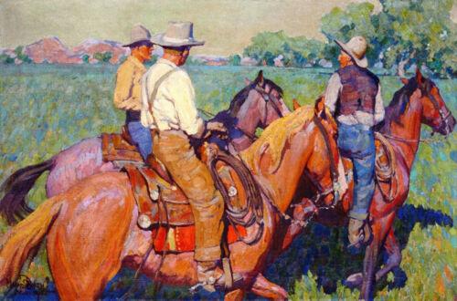 "Home Pastures by Maynard Dixon  14/""  Paper Print Repro"