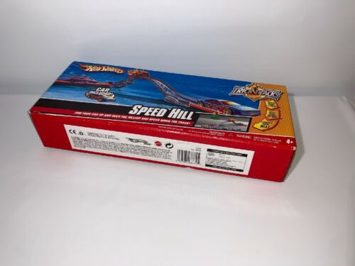 Hot Wheels SPEED HILL Stunt Set Trick Tracks MYSTERY Car Included SEALED BOX