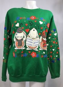 image is loading vintage christmas sweater size large sweat shirt green - Vintage Christmas Sweater