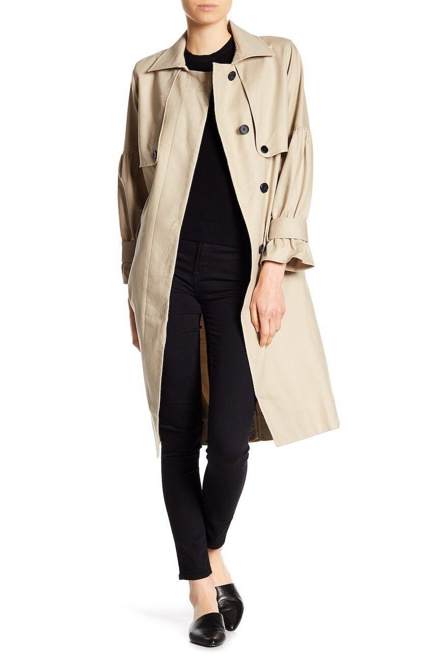 NEW Joie Alwena Trench Coat in Khaki - Size S