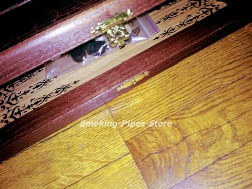 "Portable SMALL wood Leather HANDMADE game Backgammon Crocodile 11/"" 290mm LUXURY"