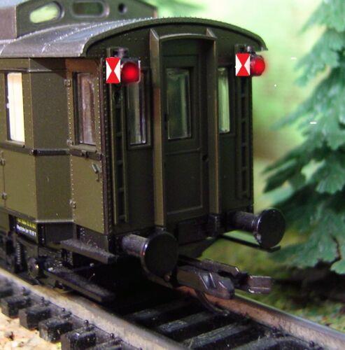 2 Stk.Zugschlußlaternen Universal Spur TT//N