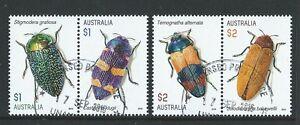 AUSTRALIA-2016-BEETLES-SET-OF-4-FINE-USED