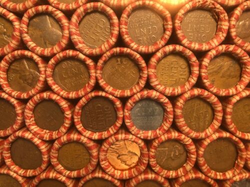 Old Wheat Pennies Rolls Unsearched Cents US Coins P D S Mint Marks Wheats Penny
