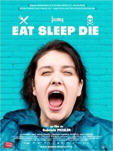 Affiche-40x60cm-EAT-SLEEP-DIE-ATA-SOVA-DO-2013-Nermina-Lukac-Dragisi-NEUVE
