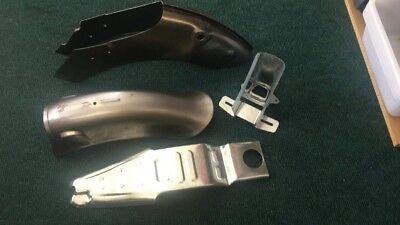 Honda C50 C70 Passport rear metal panel fender frame body parts set unpainted
