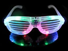LED Shutter Shades Flashing Light Glasses Rave Club Party Costume Slotted Glow