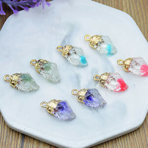 Lots-Irregular-Resin-Stone-Crystal-Quartz-Pendant-Necklace-for-DIY-Women-Jewelry