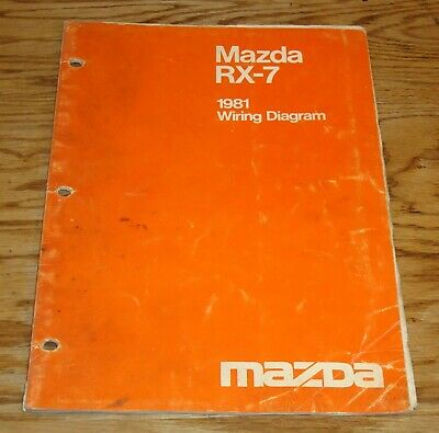 Original 1981 Mazda RX-7 Wiring Diagram Manual 81 | eBay