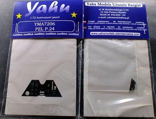 Yahu Models YMA7206 1//72 PE PZL P.24 Instrument Panel