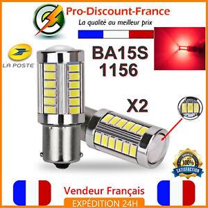 2-x-Ampoule-33-LED-BA15S-1156-P21W-Rouge-VOITURE-Feux-Stop-Veilleuse