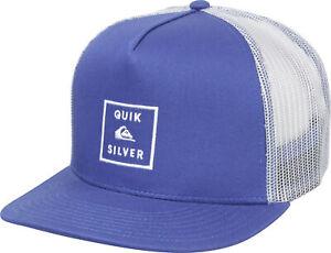 Quiksilver-Hommes-Clipster-5-Panel-Reglable-Camionneur-Chapeau-Medieval-Bleu