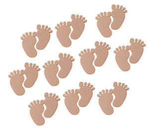 25-x-Wooden-MDF-Baby-Feet-Pairs-Footprint-Shapes-Joined-Craft-Embellishment-30mm