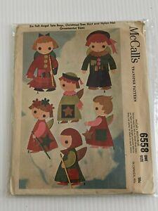 Vintage-6558-Mccall-Angolo-di-Totalizzatore-Natale-Albero-Gonna-Ornamenti-Cucito