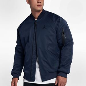 NIKE AIR JORDAN SPORTSWEAR WINGS MA-1 JACKET MIDNIGHT NAVY 879493 ... d9ce5831a