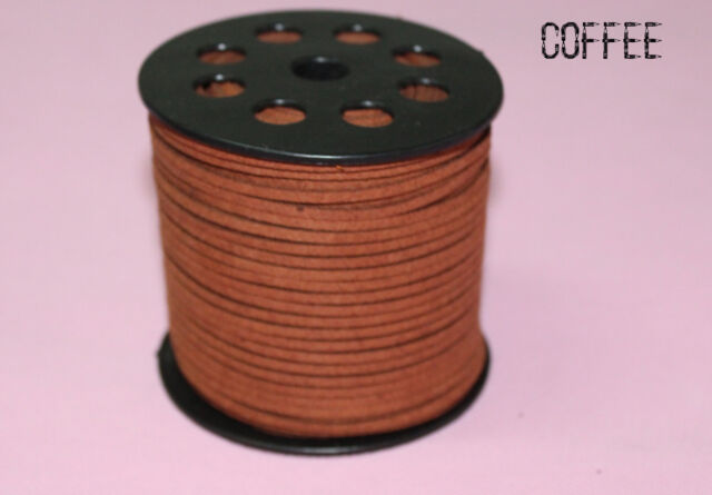 9 COLORS 3mm x 1.5mm Faux Suede Cord Leather Lace Jewelry Making Beading Thread