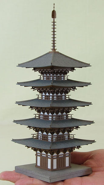 Sankei MP03-11 Temple Five-story Pagoda 1 150 N scale