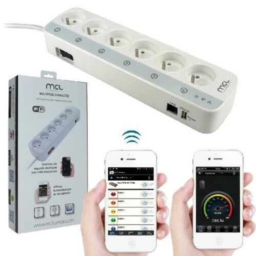 Multiprise intelligente connectée 6 prises - Produit neuf livré avec facture