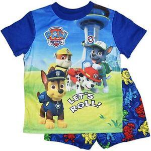 f323a16f69d Image is loading Licensed-Paw-Patrol-Summer-Pyjamas-PJs-Rocky-Marshall-