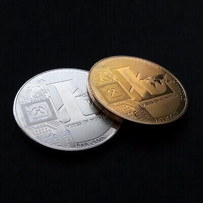 Litecoin! physical Collectible Coin Crypto Commemorative Coin silver plated