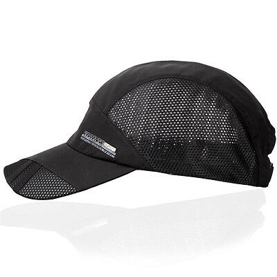 Mens Womens Summer Mesh Baseball Cap Adjustable Unisex Sport Curved Visor Hat