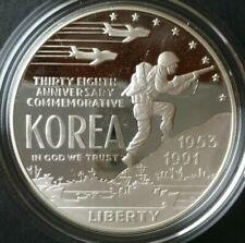 1991-P Proof $1 Silver Korean War Memorial Box OGP /& COA